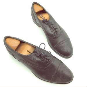 Johnston & Murphy size 10.5 M black leather shoes